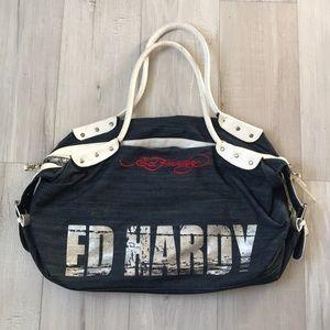 2b874b619e85 Vintage Ed Hardy Large Travel   Duffle bag